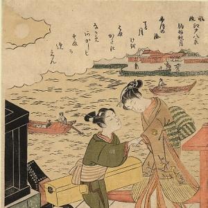 Судзуки Харунобу - Полная луна в Комагатэ