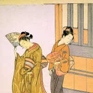 Судзуки Харунобу - Выход на прогулку. Серия Восемь сцен в гостиной