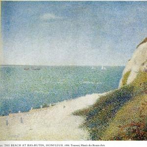 Жорж Сера - Пляж-Бас-бутен в Онфлёре