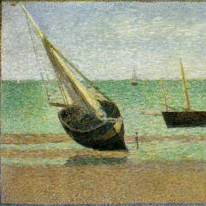 Жорж Сера - Лодки,отлив,в Грандкемп