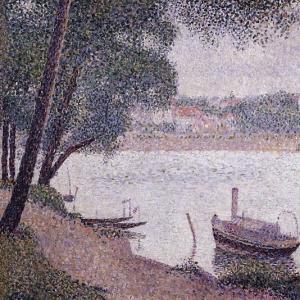 Жорж Сера - Пейзаж с лодкой