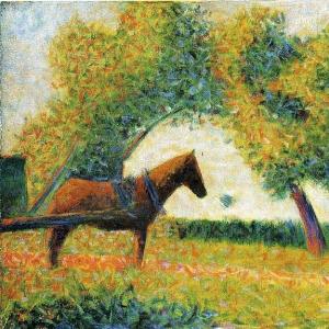 Жорж Сера - Лошадь и телега