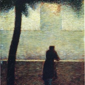 Жорж Сера - Мужчина смотрит в даль