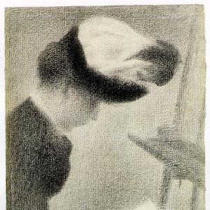 Жорж Сера - Женщина сидящая у станка