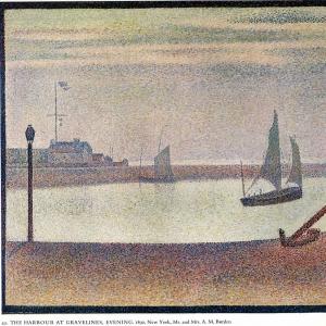 Жорж Сера - Канал на Гравелине, вечер