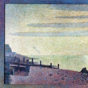 Жорж Сера - Вечер в устье сены близ Онфлёра