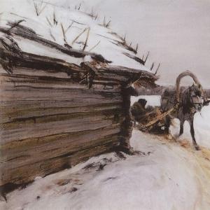 Серов Валентин Александрович - Зимой. 1898