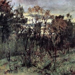 Серов Валентин Александрович - Осенний вечер. Домотканово. 1886
