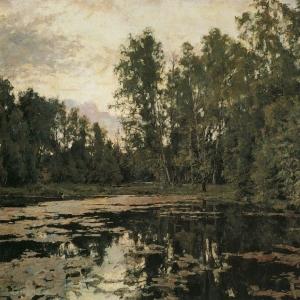 Серов Валентин Александрович - Заросший пруд. Домотканово. 1888