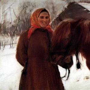 Серов Валентин Александрович - Баба с лошадью. 1898