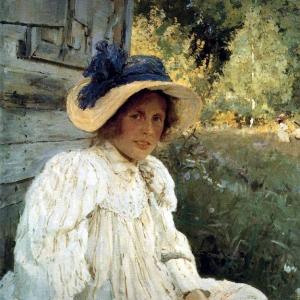 Серов Валентин Александрович - Летом (Портрет О. Ф. Серовой). 1895