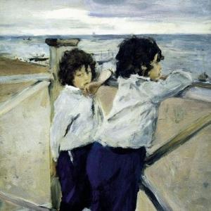 Серов Валентин Александрович - Дети (Саша и Юра Серовы). 1899