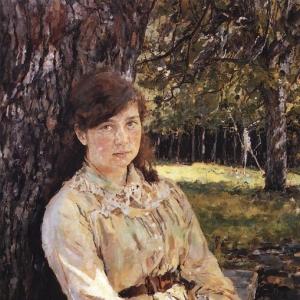 Серов Валентин Александрович - Девушка, освещенная солнцем (Портрет М. Я. Симонович). 1888