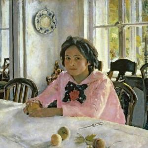 Серов Валентин Александрович - Девочка с персиками (Портрет В. С. Мамонтовой).