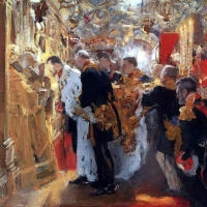 Серов Валентин Александрович - Коронация. Миропомазание Николая II в Успенском соборе. 1896