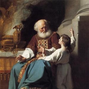 Синглтон Копли Джон - Самуил сообщает о грядущем наказании дому Илия