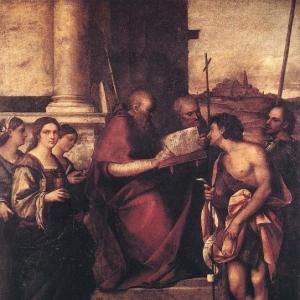 Себастьяно дель Пьомбо - Сан Джованни Кризостомо и Святые
