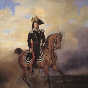 Портрет императора Николая I на коне