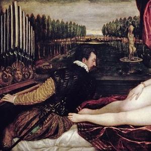 Венера и органист, 1540-50