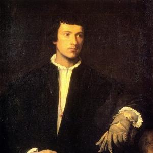 Портрет молодого человека с перчатками 1523-24