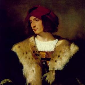 Портрет мужчины в красной шапке