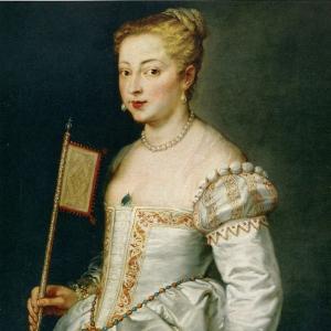 Портрет дамы в белом платье