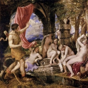 Актеон, подсматривающий за купанием Дианы
