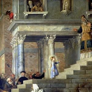 Введение во храм Пресвятой Богородицы (фрагмент)