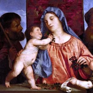 Мадонна с вишней и святым Иосифом