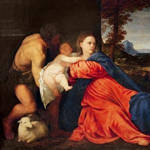 Богородица с младенцем, Святым Иоанном Крестителем и Дарителем