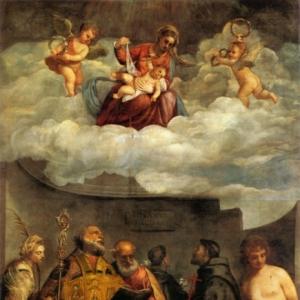 Мадонна с Младенцем и святыми («Мадонна деи Фрари»)