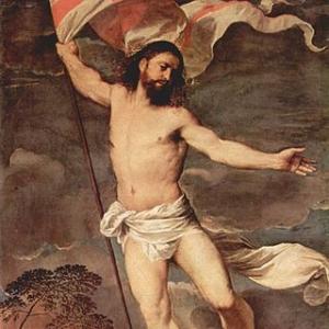 Центральная панель запрестольного образа Воскрешения Христа (Полиптих Аверольди)