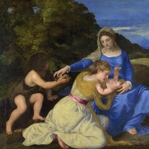Мадонна с младенцем и молодым Иоанном Крестителем (Мадонна Альдобрандини)