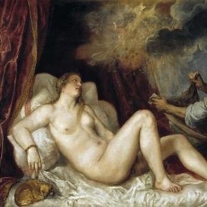 Даная, принимающая в своё лоно Зевса в виде золотого дождя