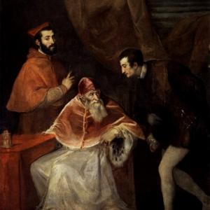 Папа Павел III с Алессандро и Оттавио Фарнезе