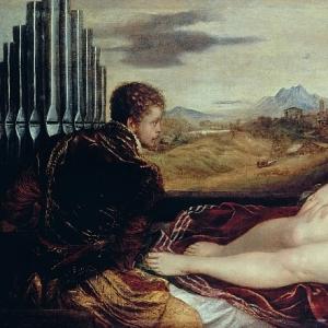 Венера c органистом и купидоном