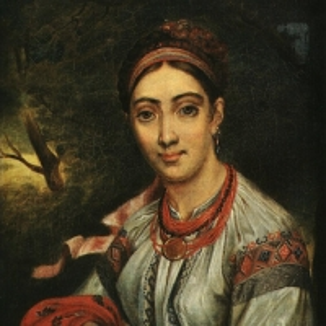 Девушка-украинка в пейзаже. 1820-е