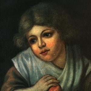 Девочка с яблоком. 1800-е