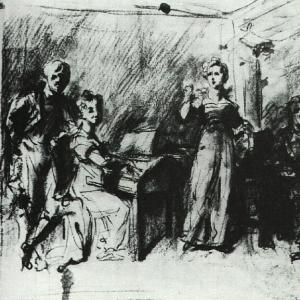 Домашний концерт. Начало 1810-х
