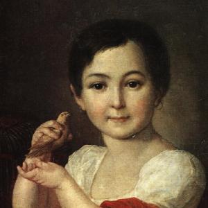 Девочка с канарейкой. 1810-е