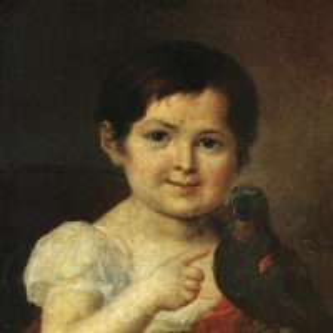 Девочка с попугаем. 1810-е