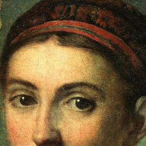 Голова украинской девушки. Фрагмент. 1810-1820-е