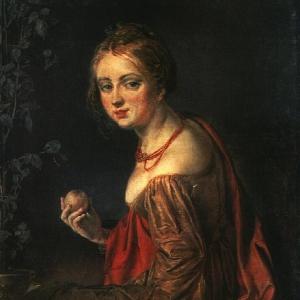 Девушка с яблоком. Этюд. 1840-е