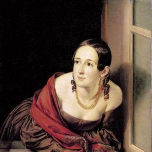 Женщина в окне (Казначейша). 1841