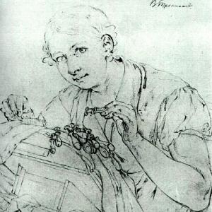 Кружевница. Этюд для одноименной картины. 1823