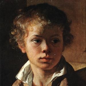 Голова мальчика. Портрет А. В. Тропинина. Ок. 1818