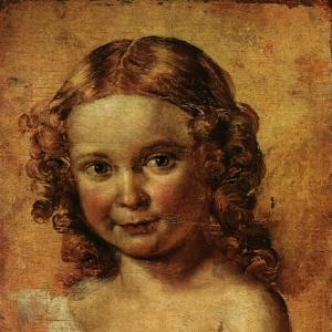 Голова девочки. Этюд к портрету В. И. Ершовой с дочерью. 1831