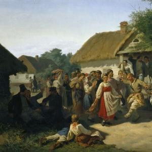 Хоровод в Курской губернии
