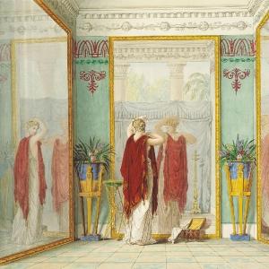 Душенька любуется собою в зеркало. 1821