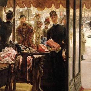 Жак Жозеф Тиссо - Девушка в магазине